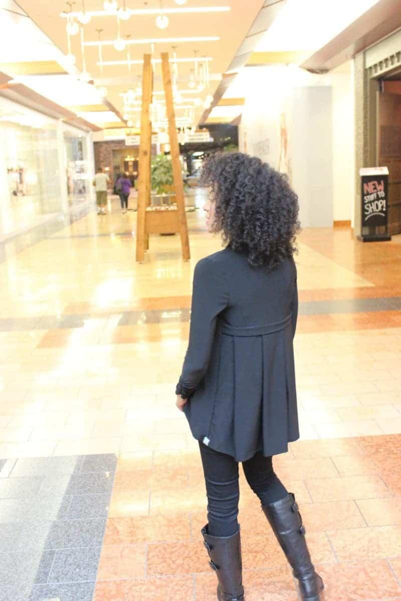 pocket poppet black foldable cardigan