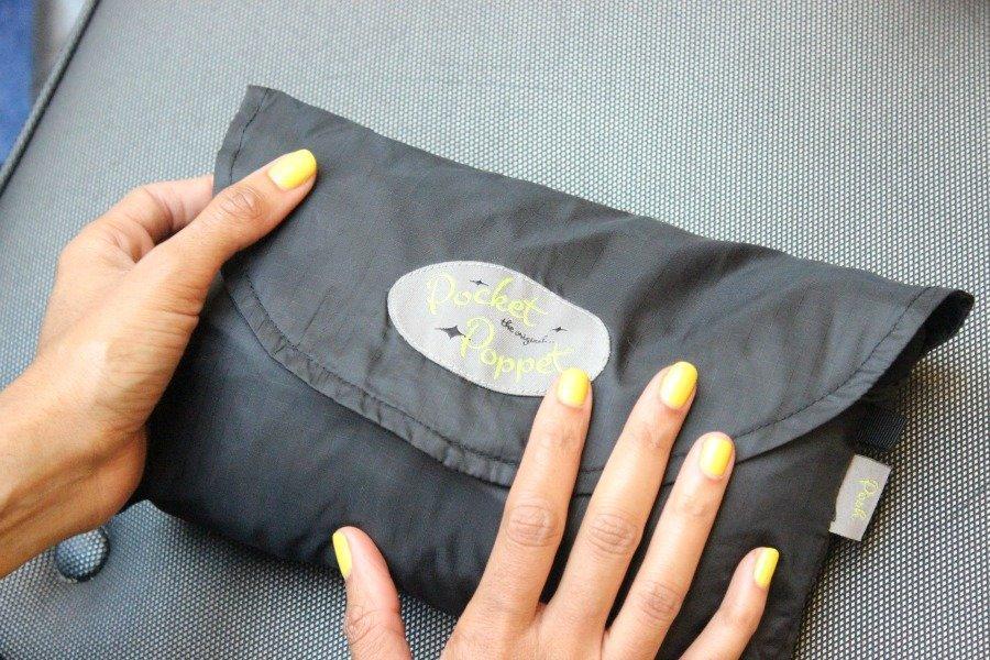 posh pocket foldable travel cardigan