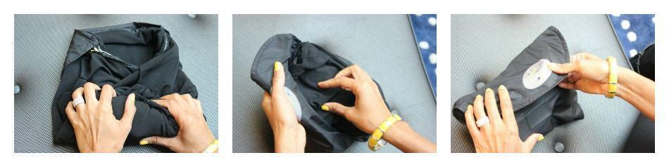 foldable wrinkle free travel cardigan