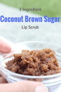 3 ingredient coconut brown sugar lip scrub