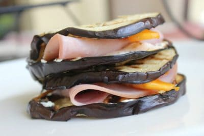 grilled eggplant with turkey