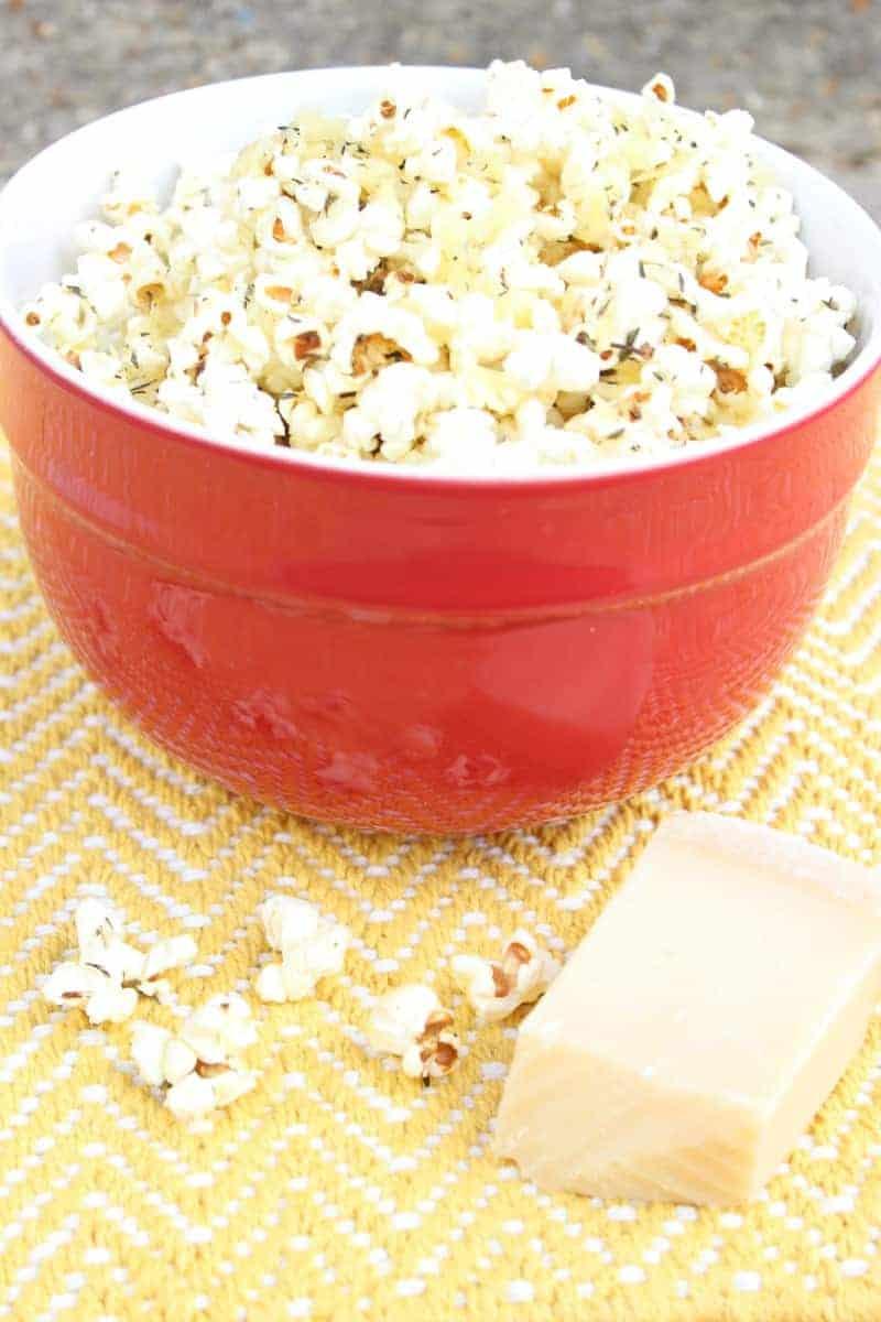 parmesan cheee herb popcorn