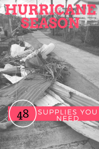 Hurricane Irma St. Thomas. supplies you need for a hurricane