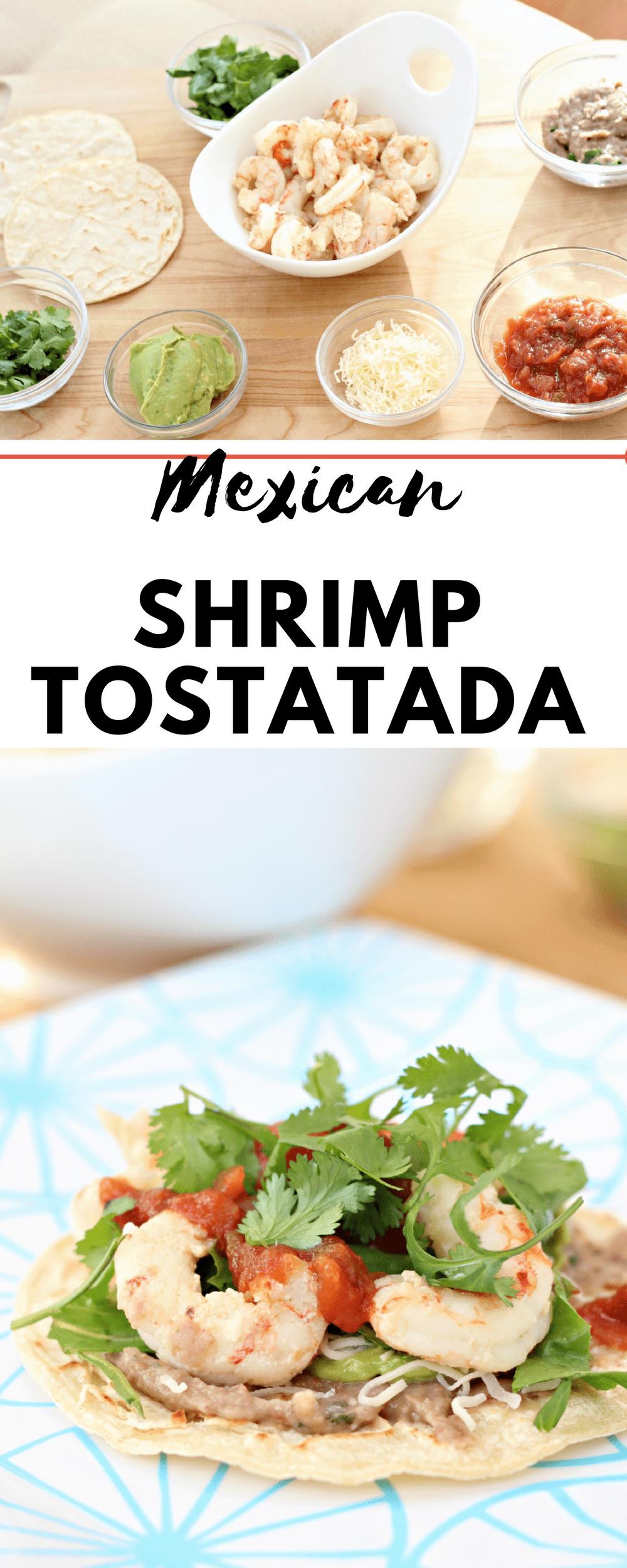 Gluten free shrimp tostada