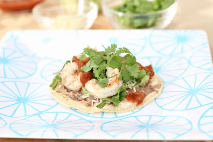 Mexican Style Shrimp Tostadas