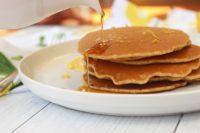 gluten free dairy free pancakes with lemon