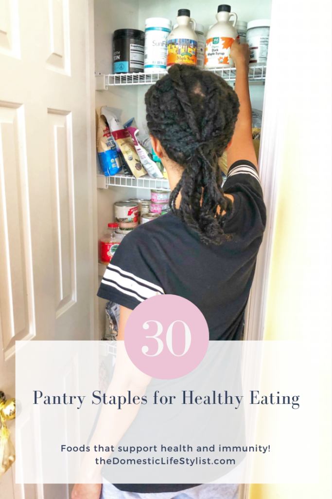 healthy pantry staples