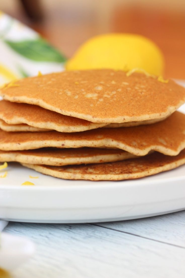 Dairy Free Gluten Free Pancakes with Lemon