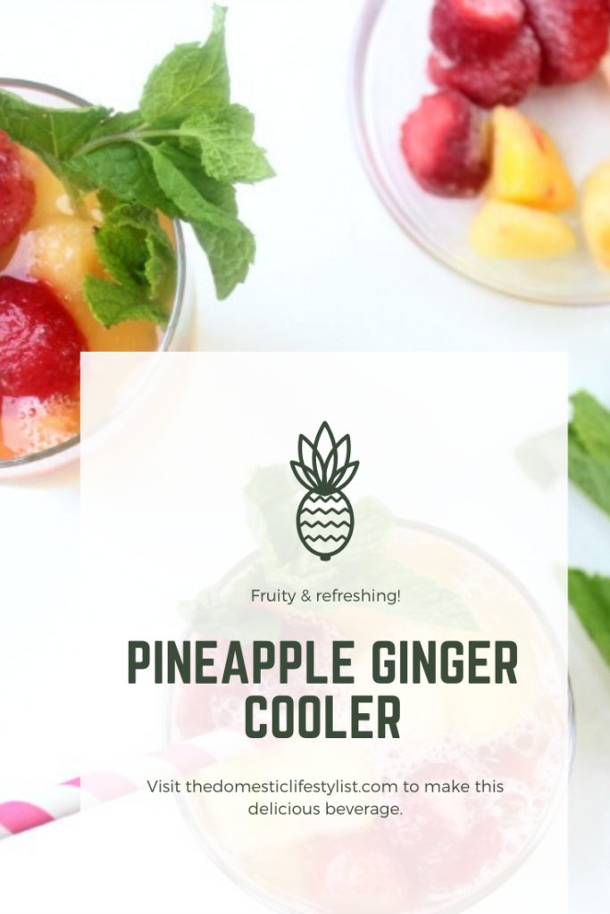 A refreshing and healthy beverage using pineapple peel and frozen fruit!