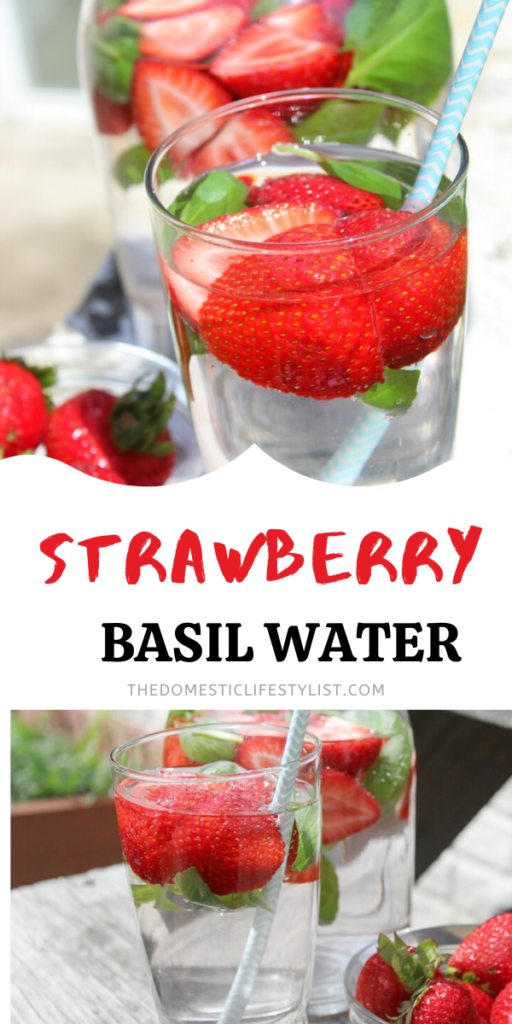 Health benefits of strawberry basil water and how to make it.