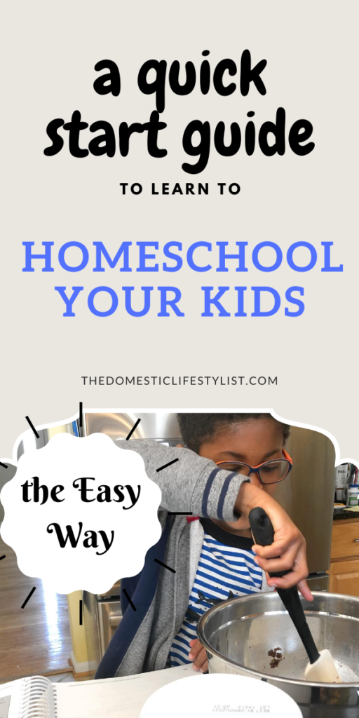 A quick start guide on how to homeschool your kids the easy way.