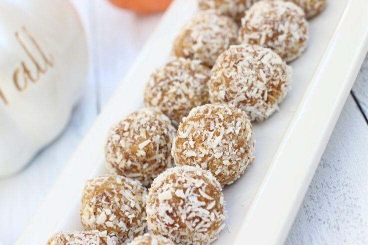 Easy No Bake Pumpkin Balls